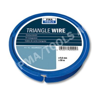 Triangle wire, 0,6 mm, 50 m on plastic dispenser