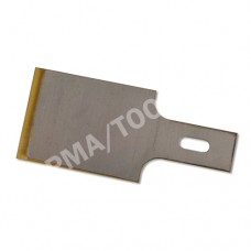 Chisel blades with titanium-coated cutting edge, bicolour, 20 mm, 10 x 10 pcs. in the package
