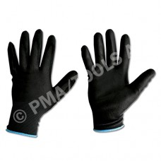Safety gloves, PU coated, size L