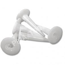 Cartridge nozzles, white, 100 pcs.