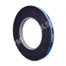 Double-sided urethane adhesive tape, black, 9 mm, 10 m roll