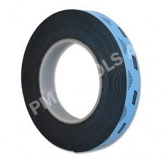 Double-sided urethane adhesive tape, black, 19 mm, 10 m roll