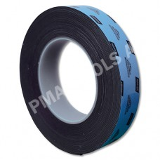 Double-sided urethane adhesive tape, black, 25 mm, 10 m roll