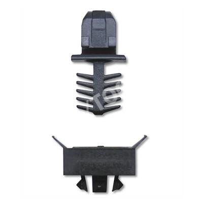 VW Sharan, 95-03, Fastener waterpanel, black