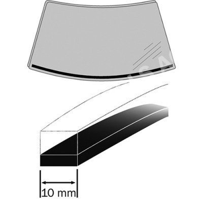 OPEL Astra H, 04-10, Expanding foam rubber, 4 m, 10 mm (6302ASDH)