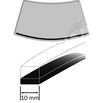 OPEL Astra H, 04-10, Expanding foam rubber, 7 m, 10 mm (6302ASDH)