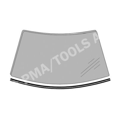PEUGEOT 1007, 05-09, WS-Waterpanel moulding (6547ASMHB)