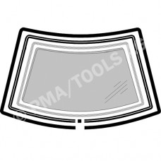 RENAULT 5 C40/B40 Super 5, 84-96, WS-Moulding set incl. sleeve, 4 pcs. (7227AKKH)