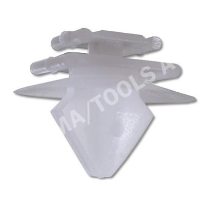 PEUGEOT 206/206+, 98-12, Fastener waterpanel, white