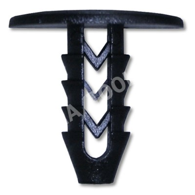 FIAT Stilo 3dr, 01-07, Fastener waterpanel, black