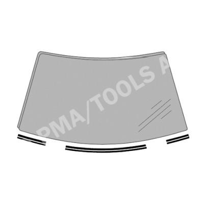 SKODA Octavia I, 96-03, WS-Waterpanel moulding set, 3 pcs. (7807ASMHB)