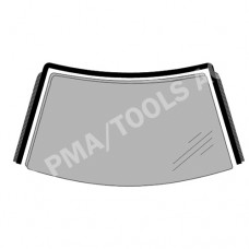 TOYOTA Avensis II, 03-08, WS-Moulding with rain channel (8346ASMH)