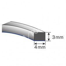 Foam rubber profile self-adh., 4x3 mm, 30 m, 5 rolls