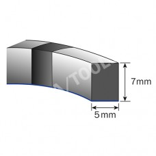 Foam rubber profile self-adh., 5x7 mm, 5 m, 5 rolls