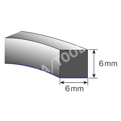 Foam rubber profile self-adh., 6x6 mm, 15 m, 5 rolls