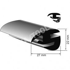 Weatherstrip profile, 22x27 mm, 50 m