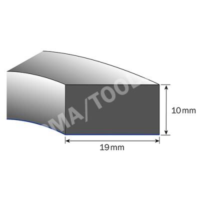 Foam rubber profile self-adh. for dashboard, 19x10 mm, 10 m