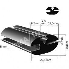 Weatherstrip profile, 29,5x19 mm, 15 m (5113)