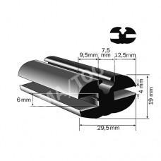 Weatherstrip profile, 29,5x19 mm, 15 m (5125)