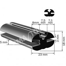 Weatherstrip profile, 23x18 mm, 20 m