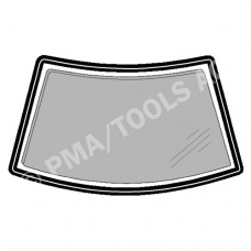 VW Golf I/Jetta, 74-82, WS-Rubber solid with insert gap (8519ASRH)