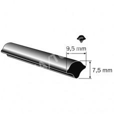 Filler profile, 9,5x7,5 mm, 25 m