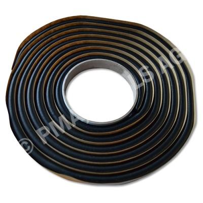 Butyl rubber tape, black, 8 mm, 3 m roll