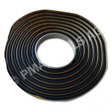 Butyl rubber tape, black, 10 mm, 3 m roll