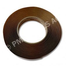 Butyl rubber tape, black, 3 mm, 6 m roll